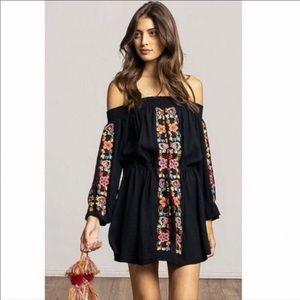 Misa Los Angeles xs black off the shoulder dress